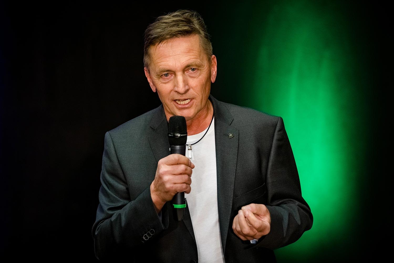Franz Zimmermann bei einem Vortrag